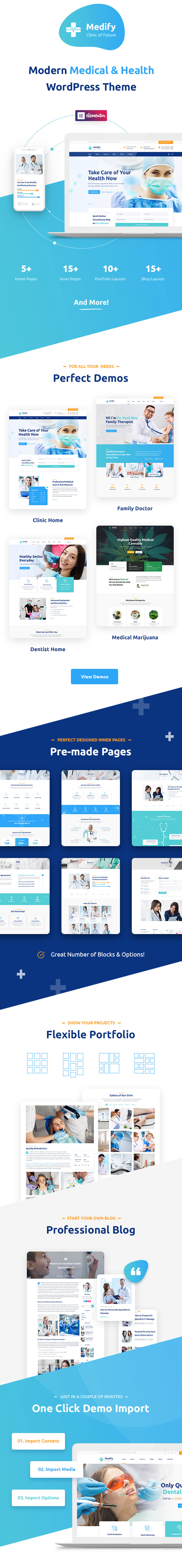 Medify - Health & Clinic WordPress Theme - 1