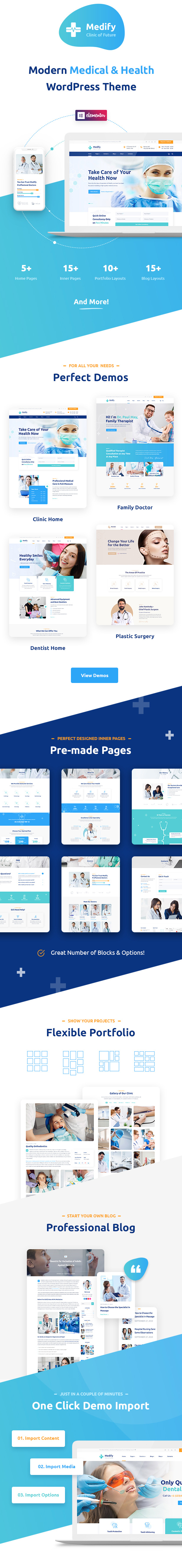 Medify - Health & Clinic WordPress Theme - 2